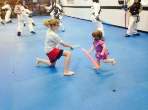 Karate Baby at work